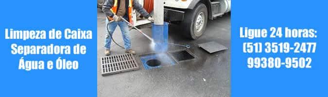 limpeza de caixa separadora de água e óleo porto alegre 24 horas csao