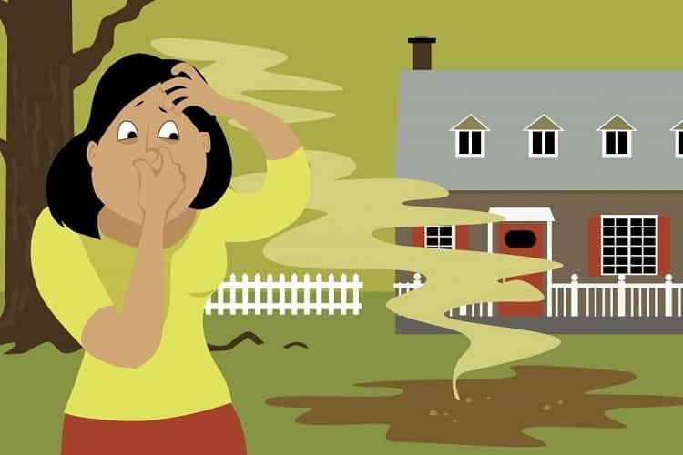 fossa está cheia e pode causar mau cheiro ao redor da sua casa