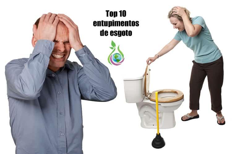 10 maiores problemas causados por entupimento de esgoto