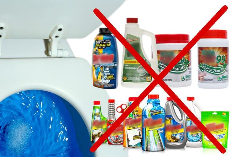 porque não devo usar produto para desentupir o vaso da minha casa ou empresa?
