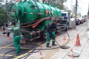 hidrojateamento de rede de esgoto em porto alegre
