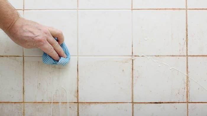 box de banheiro limpar piso e parede
